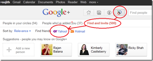 Import Yahoo Or Hotmail Contact  account To  GooglePlus
